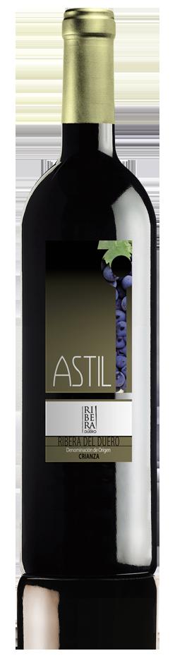 Astil vino tinto crianza, denominación de origen Ribera del Duero